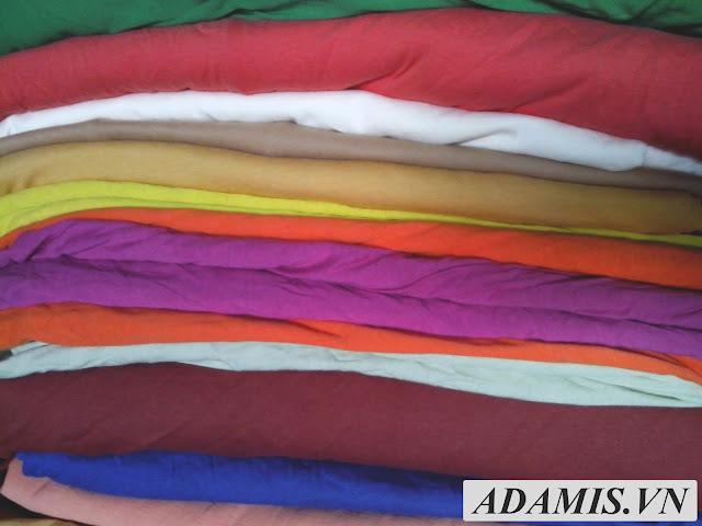 hình ảnh vải thun cotton 2 chiều mình vải dày