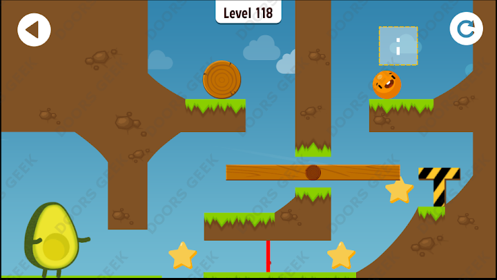 Where's My Avocado? Level 118 Solution, Cheats, Walkthrough, 3 Stars for Android, iPhone, iPad and iPod