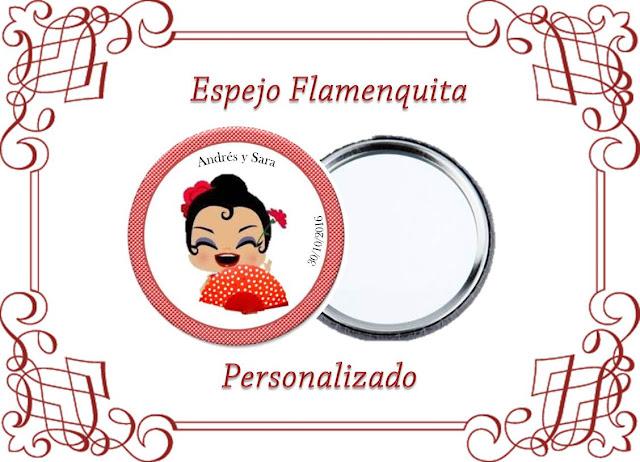 un detalle estilo andaluz para tus invitadas de boda, que puedes personalizar con vuestros nombres y fecha de boda