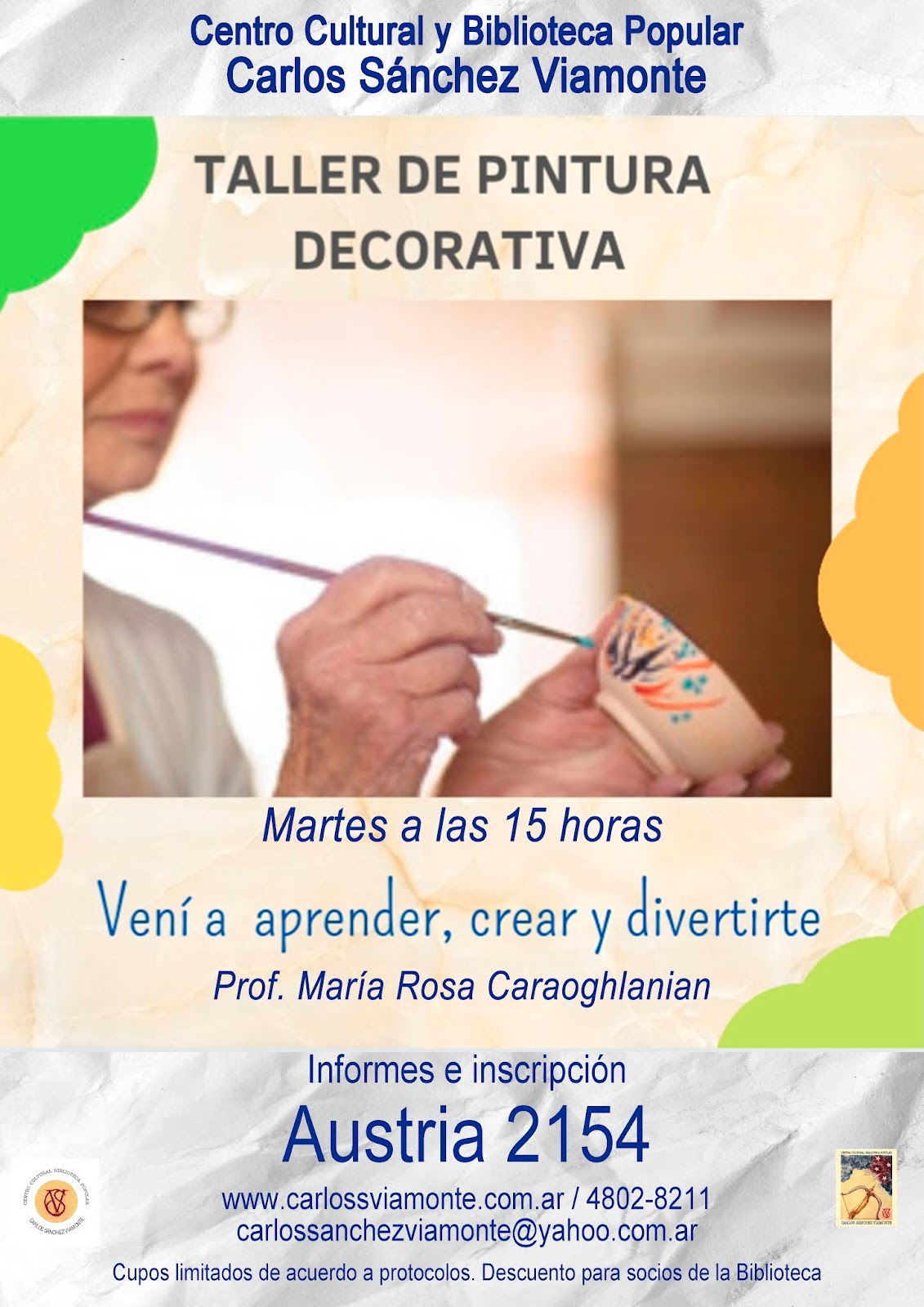Taller de Pintura decorativa para adultos