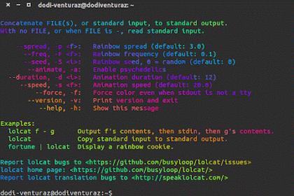 Menampilkan Teks Warna Pelangi dengan Lolcat di Linux