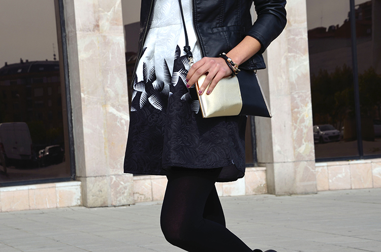 black-white-dress-biker.booties-blogger-look-outfit-trends-gallery