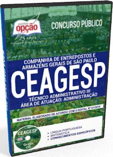 apostila CEAGESP  Técnico Administrativo III PDF