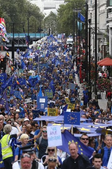 Britons In Massive Multiple  #marchforeurope Protest Across Britain Against Brexit