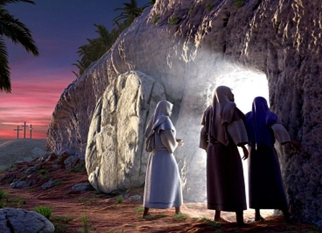 SECOND STATION OF VIA LUCIS: The Disciples Discover the Empty Tomb
