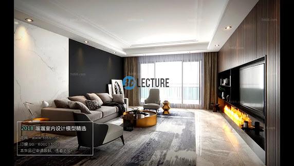 Living Room 3Dsmax Scene Model Free Downloads