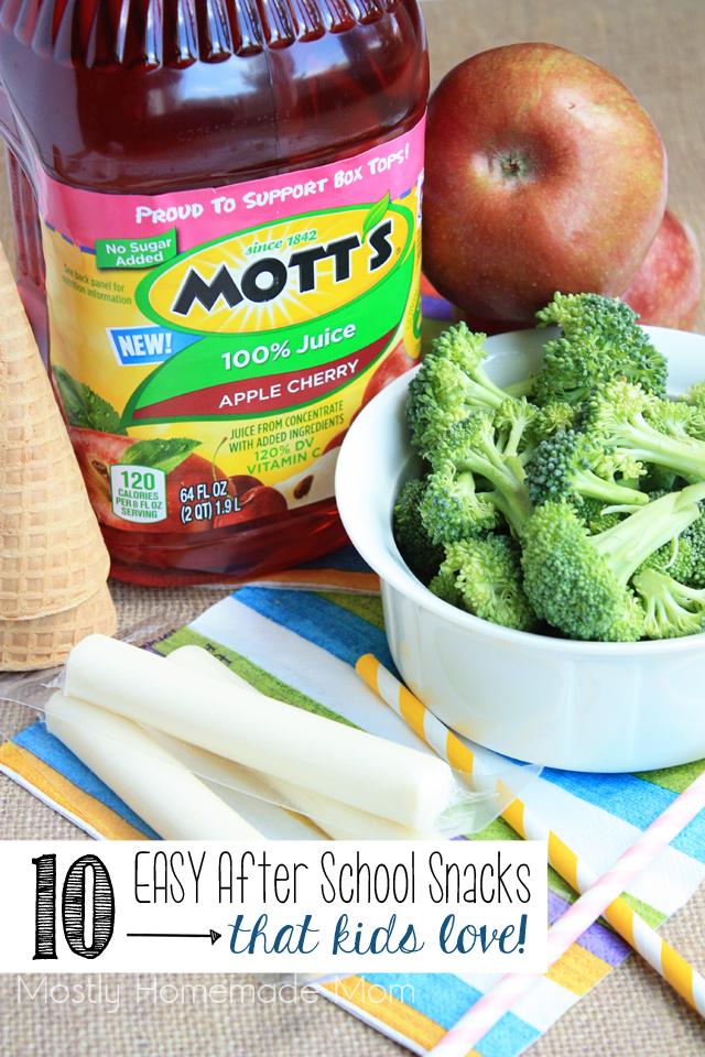 10 EASY After School Snacks that Kids LOVE!