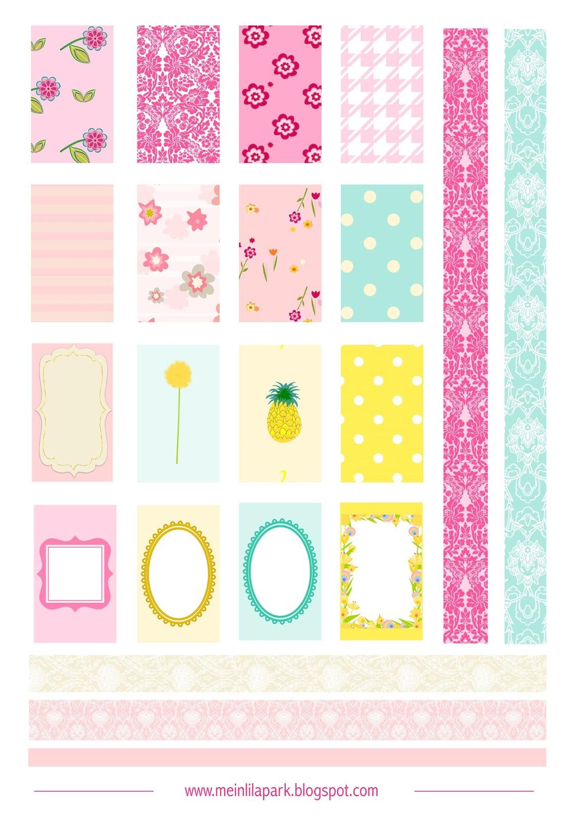 Free printable planner stickers pastels - freebie ...