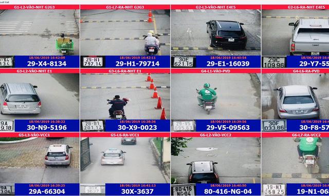Camera tại Ciputra ghi lại hình ảnh biển số xe