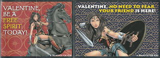 Front of last two Wonder Woman Valentines