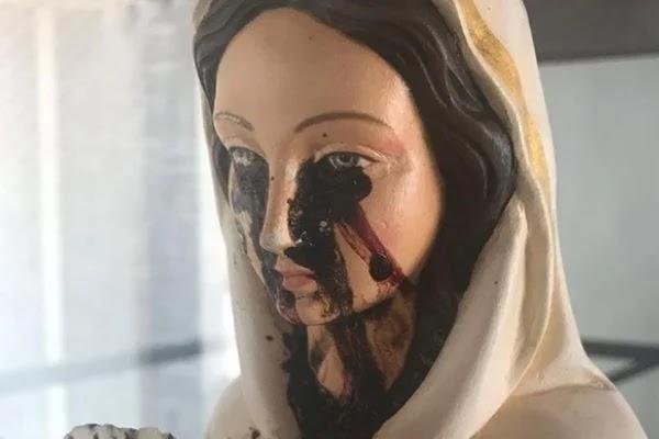 """Imagem de Nossa Senhora da Rosa Mística """"chora"""" sangue no Piauí"""