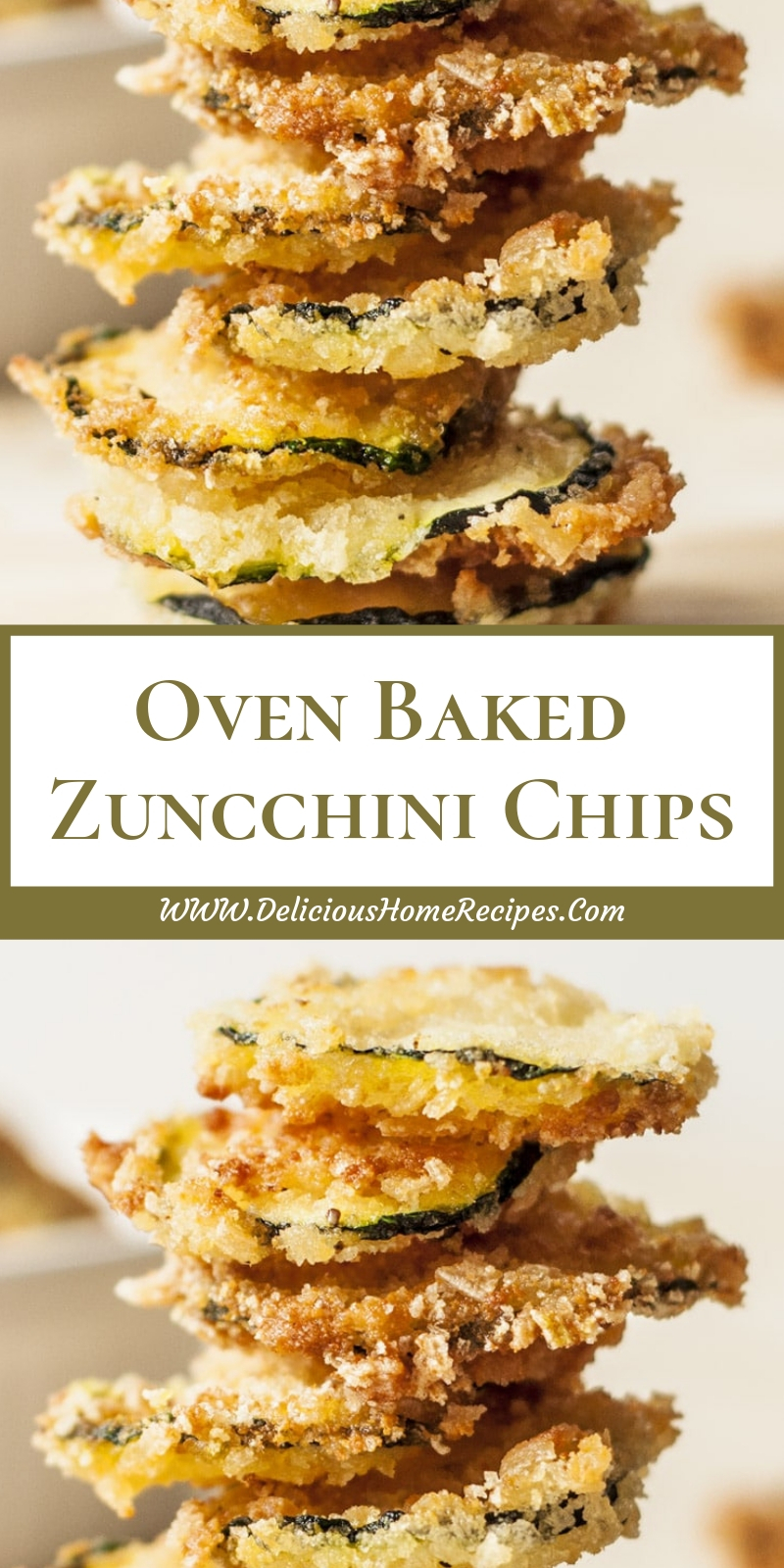Oven Baked Zuncchini Chips