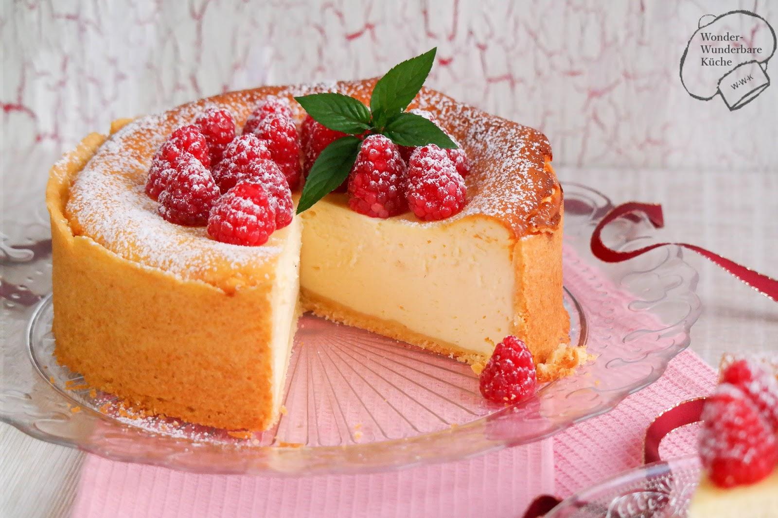 Kleine Kuchen: klassischer Käsekuchen