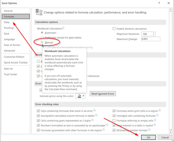 """Khắc phục lỗi """"We found a problem with some content in 'filename.xlsx'..."""" trong Excel"""