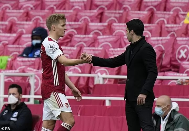 Arteta admits he wants Odegaard to STAY at Arsenal after impressive loan spell