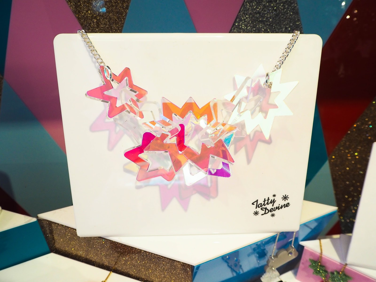 Tatty Devine starburst Christmas necklace