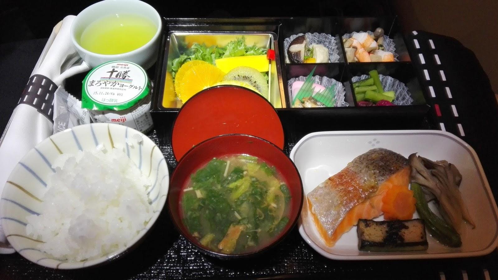 JAL business class Japanese flight meal ビジネスクラス和食