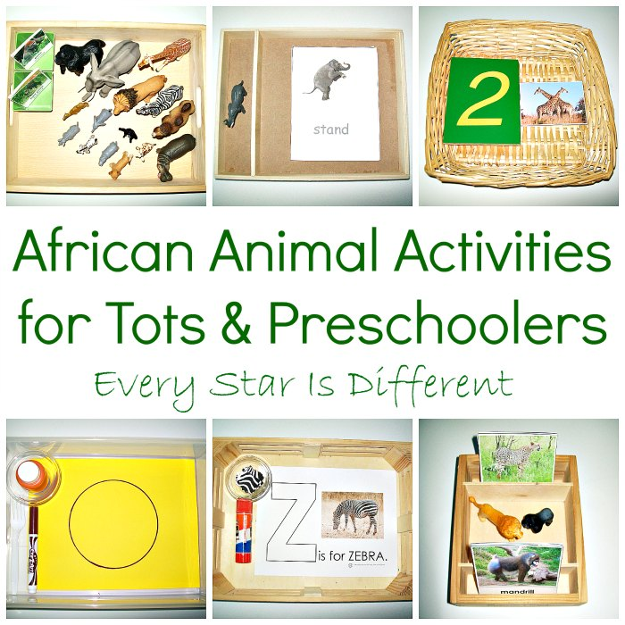 Animals of Africa Activities for Tots and Preschoolers