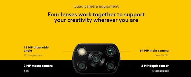 poco x3 NFC Quad Camera Equipment