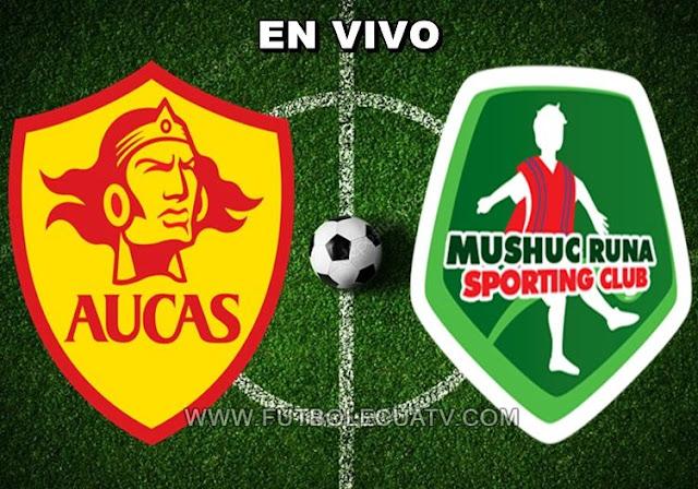 Aucas recibe al Mushuc Runa en vivo a partir de las 15h00 horario determinado por la comitiva a realizarse en el estadio Gonzalo Pozo Ripalda prosiguiendo la fecha cinco del campeonato ecuatoriano, siendo el árbitro principal Diego Lara con emisión del canal oficial GolTV.