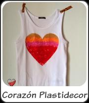 Camiseta corazón plastidecor