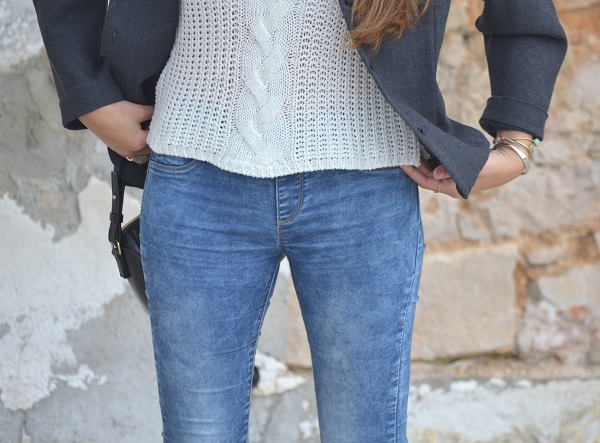 vintage jacket, jeans, Adidas Stan Smith, crochet top, Lara Pasarin