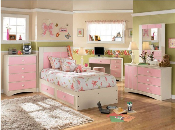 Examples of small-sized girls' bedroom designs