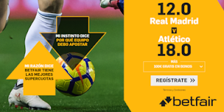 betfair supercuota Real Madrid vs Atletico 27 julio 2019