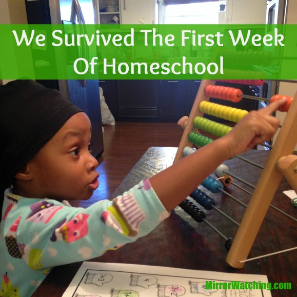 It was rough but we survived the first week of homeschool.