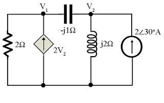 nodal analysis ac circuit