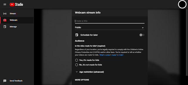 Live streaming setting