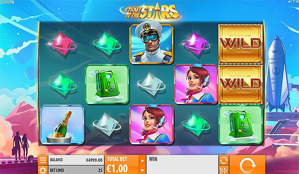 Main Slot Gratis Indonesia - Ticket to the Stars (Quickspin)