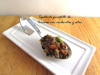Picadillo de ternera con verduras y setas.Reto gastroamig@s