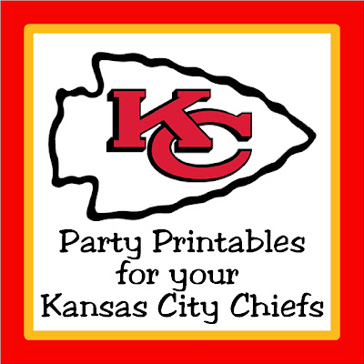 Print out your party decor and treats with these easy party printables perfect for your Kansas City Chiefs party or Super Bowl party.