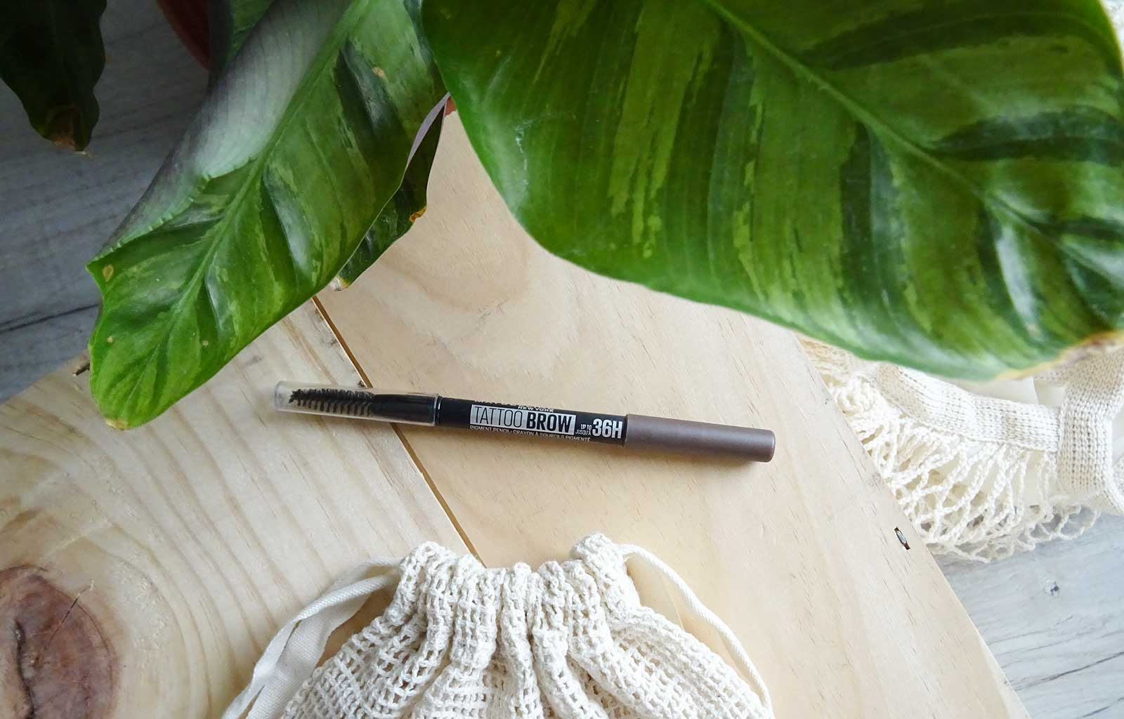 crayon tattoo brow 36h maybelline