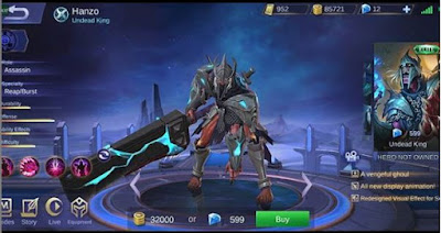 Hanzo Elite Skin - Undead King - Mobile Legends