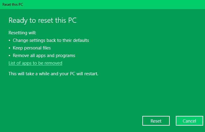 Cara Reset PC