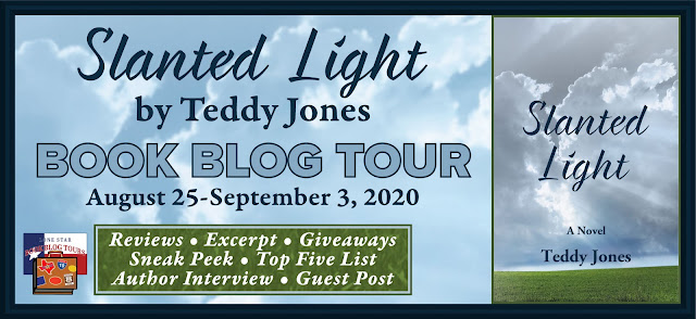 Slanted Light book blog tour promotion banner