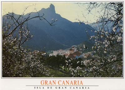 postal, Tejeda, Gran Canaria, Roque Nublo