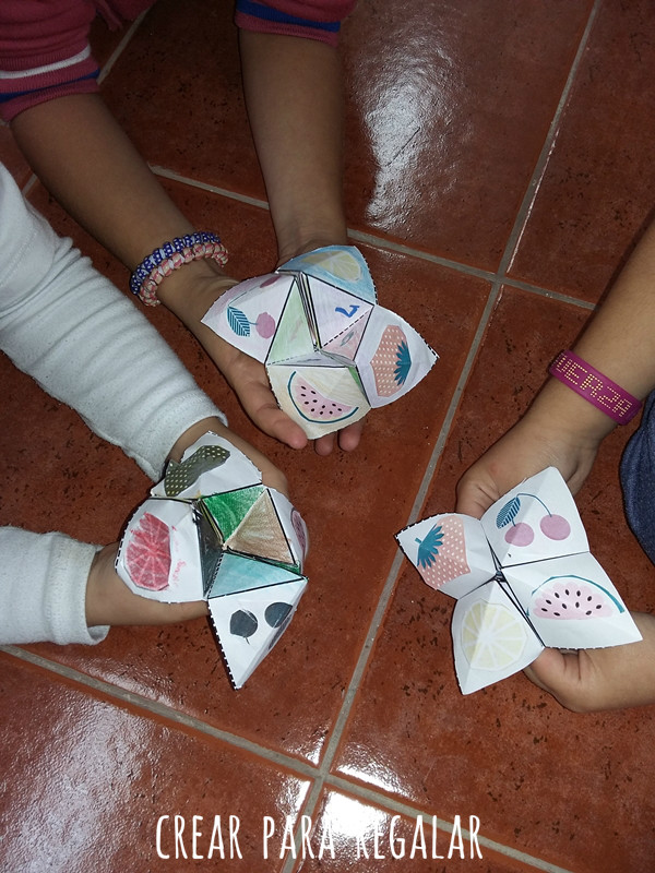 papiroflexia origami niños