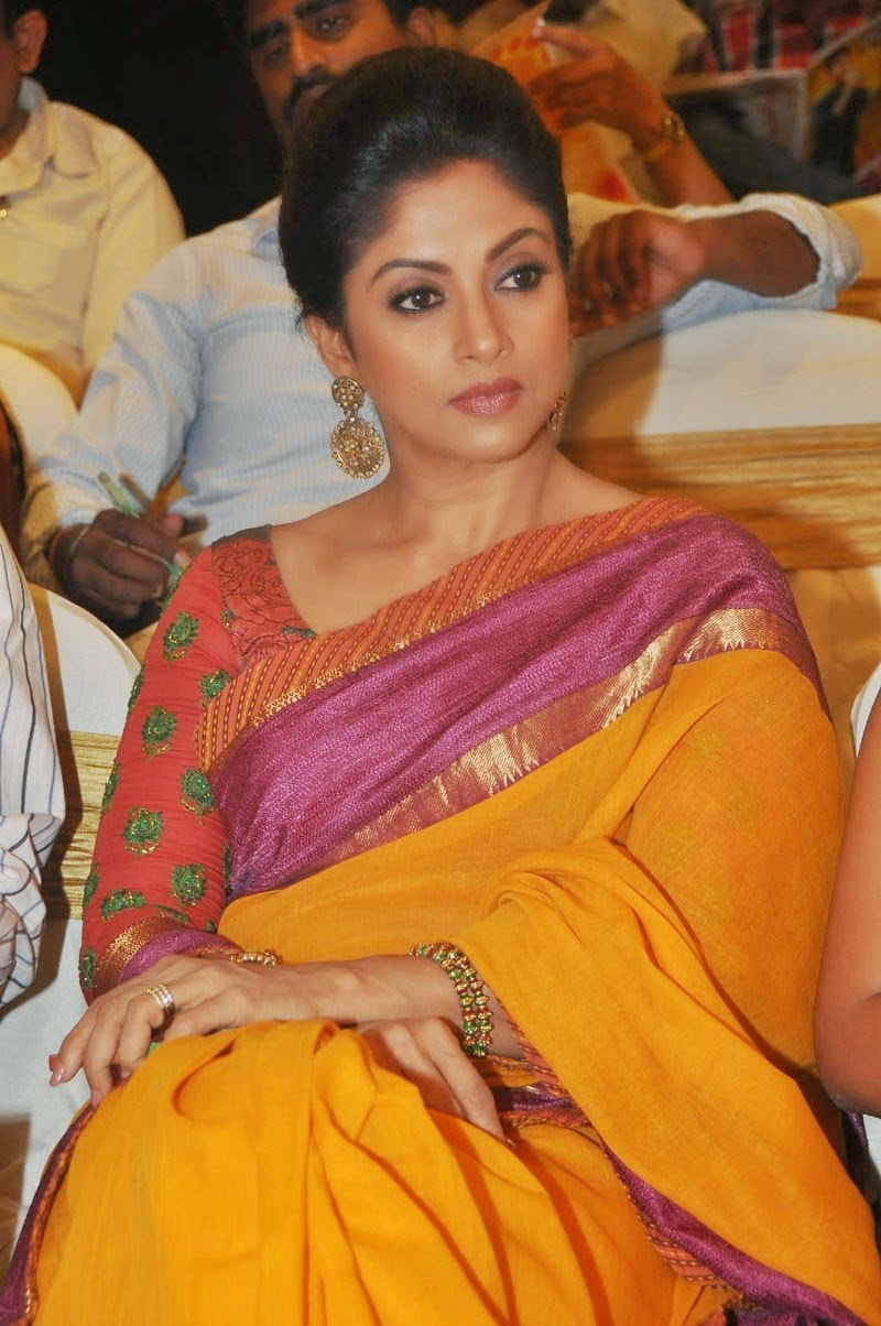Nadhiya Latest Stills In Yellow Saree