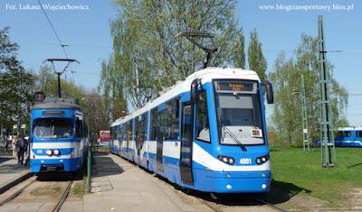 Protram 405N-Kr na pętli Wzgórza Krzesławickie