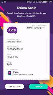 Cara Mendapatkan Paket FF Gratis untuk Kartu Axis
