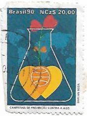 Selo Campanha de Prevenção Contra a AIDS