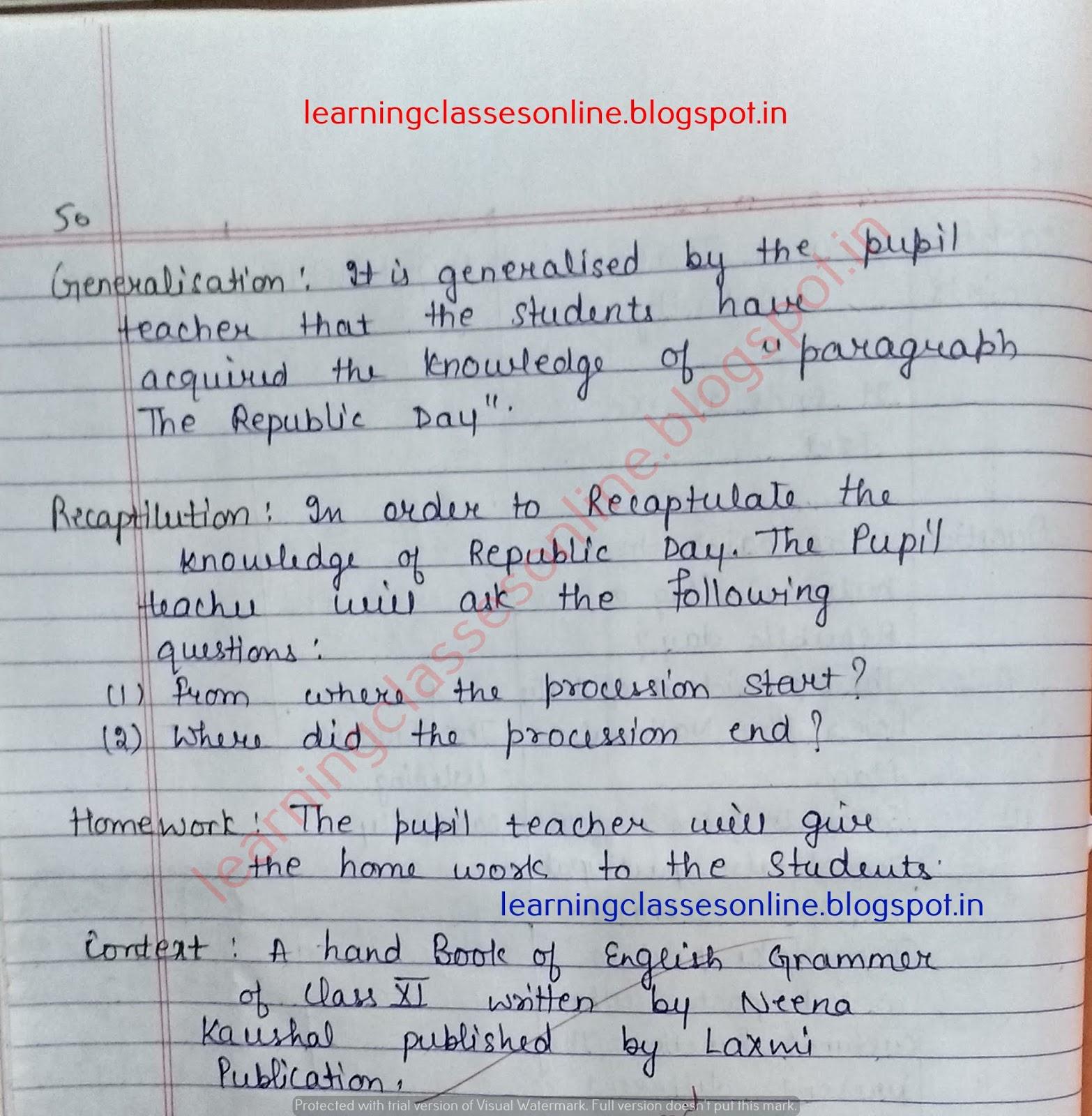demo teaching lesson plan in english,
