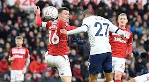 توتنهام يفضل في تخطي فريق ميدلزبره في كأس الإتحاد الإنجليزي ليكون هناك مباراة اعادة