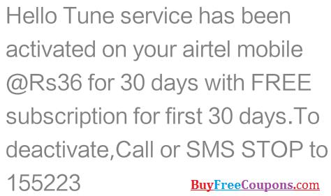 airtel free callertune proof