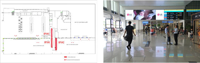 sân bay, quảng cáo sân bay, IP184
