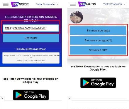 Bajar video de TikTok sin marca de agua y sin aplicaciones