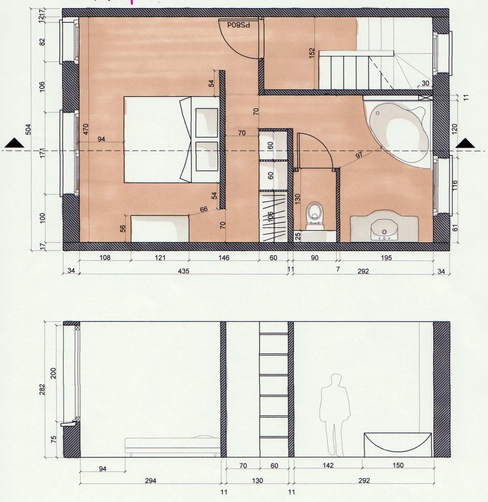 Frais plan chambre parentale avec salle de bain et for Plan chambre dressing salle de bain